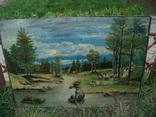 Речной, горный пейзаж, А.Пономарев