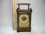 Старинные каретные часы с будильником в родном футляре ( Рабочие , сер 19 века )