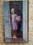 Картина девушка в цветами