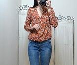 Блуза в квіти Zara.