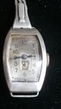 Довоенные часы ЗИФ серебро 875 проба, на ходу. С родным серебряным браслетом