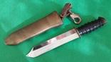"""Нож водолазный из комплекта """"трёхболтовка"""" (номер, клеймо)"""