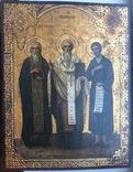 Икона прп. Трифон Вятский, свт. Стефан, епископ Пермский, прав. Симеон Верхотурский photo 1