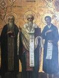 Икона прп. Трифон Вятский, свт. Стефан, епископ Пермский, прав. Симеон Верхотурский photo 2
