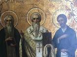 Икона прп. Трифон Вятский, свт. Стефан, епископ Пермский, прав. Симеон Верхотурский photo 3