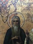 Икона прп. Трифон Вятский, свт. Стефан, епископ Пермский, прав. Симеон Верхотурский photo 5