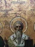 Икона прп. Трифон Вятский, свт. Стефан, епископ Пермский, прав. Симеон Верхотурский photo 6