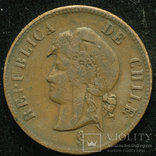 Чили 2 1-2 сентаво 1886 photo 2