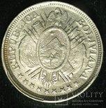 Боливия 50 сентаво 1894 серебро photo 2