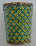 Серебряный стаканчик с эмалями 875 пробы photo 2