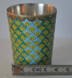 Серебряный стаканчик с эмалями 875 пробы photo 3
