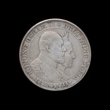2 Кроны 1907 50 лет свадьбе Короля Оскара II и Леди Софии, Швеция