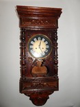 Часы настенные ссср с боем янтарь хенд мейд 0355, фото №2