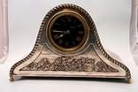 Francuski zegar srebrzony XIX wiek.