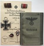 Железный крест 2 класса (верпас+документ+Миниатюры 2 шт+фельдшпанга 2 шт)