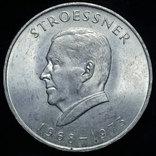 Парагвай 300 гуарани 1968 Unc серебро Стресснер