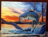 Картина для Рыбаков, холст масло.