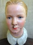 Старинная голова куклы большая