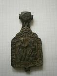 Икона-энколпий: Архангел Сихаил перед святым Сисинием.