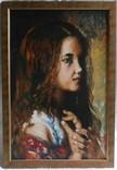 """Картина """"Портрет девочки"""" авторская живопись. Холст, масло. 48х68"""