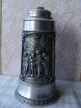 Большая Кружка Бокал из олова Серия Выдающиеся художники Карл Шпицвег. Клеймо., фото №3