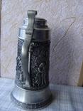 Большая Кружка Бокал из олова Серия Выдающиеся художники Карл Шпицвег. Клеймо., фото №5