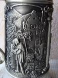 Большая Кружка Бокал из олова Серия Выдающиеся художники Карл Шпицвег. Клеймо., фото №12