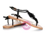 Шикарные босоножки, вьетнамки Черные размер 39