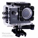 Экшн камера Action Sports с аквабоксом и набором креплений