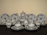Чайный антикварный сервиз клеймо Stadtlengsfeld на 6 персон 22 предмета Германия