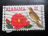 Фауна. Птицы.  США. Алабама. марка. гаш, фото №2