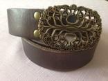 Ремень staghound belts кожа