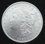 1 Доллар 1921. D ( мон. двор денвер ) Морган. Серебро. Состояние UNC