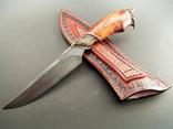 Нож, дамаск, ХВГ, 9ХС, У10А + 10% 5ХНМ и карибское розовое дерево. photo 6