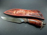 Нож, дамаск, ХВГ, 9ХС, У10А + 10% 5ХНМ и карибское розовое дерево. photo 8