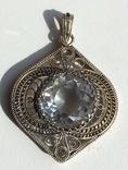 Подвеска Сканная Серебро 916 пр С Хрусталем