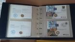Семь монет по 2 евро в  семи конвертах и альбоме., фото №6