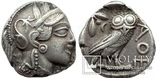 Тетрадрахма Аттика Афины 454-404 гг до н.э. (76_21) photo 1