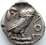Тетрадрахма Аттика Афины 454-404 гг до н.э. (76_21) photo 7