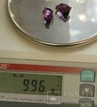 Серебряные запонки 875 пробы, фото №7