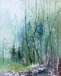 "Картина 23х18,5 масло 2018г. ""Утро в лесу"""
