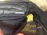 Кожаные байкирские штаны размер 36 photo 6
