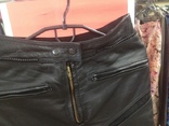 Кожаные байкирские штаны размер 36 photo 9