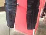 Кожаные байкирские штаны размер 36 photo 10