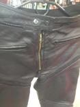 Кожаные байкирские штаны размер 36 photo 11