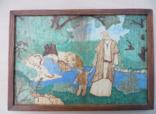 Картина Ісус з хлопчиком виражена на дереві та розмальована photo 1