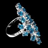 Кольцо 925 натуральный ААА голубой апатит. photo 3