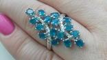 Кольцо 925 натуральный ААА голубой апатит. photo 4