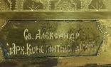 Икона Св. Александра Константинопольского на золоте 36*30*3 см. photo 2