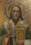 Икона Св. Александра Константинопольского на золоте 36*30*3 см. photo 5